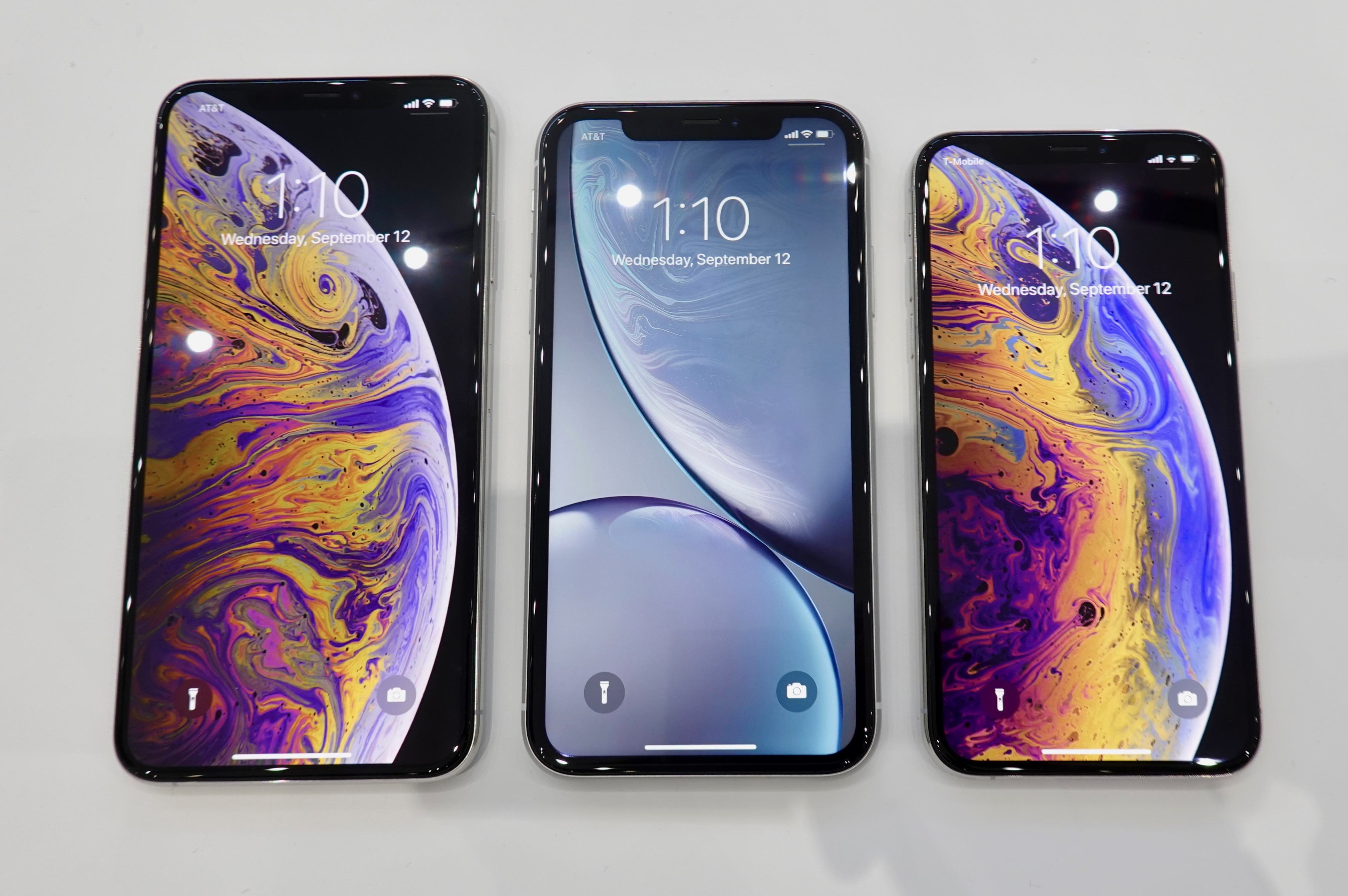 【写真】iPhone XS Max、XR、XS